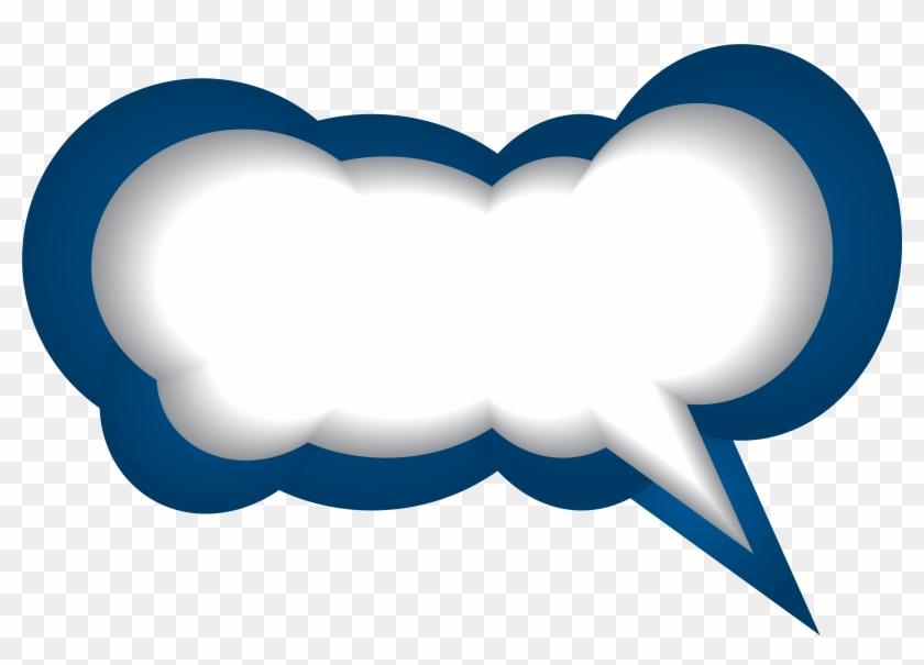 Speech Bubble Blue White Png Clip Art Image - Blue Speech Bubble Png #22554