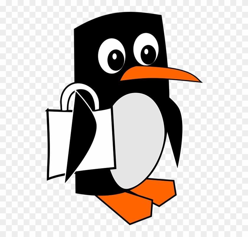Penguin, Clipart, Animal, Drawn, Cartoon - Cliparty Zwierzęta #22550