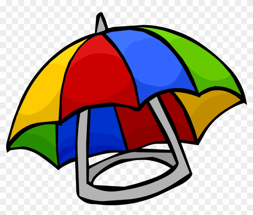 Club Penguin Clip Art - Club Penguin Umbrella Hat #22552