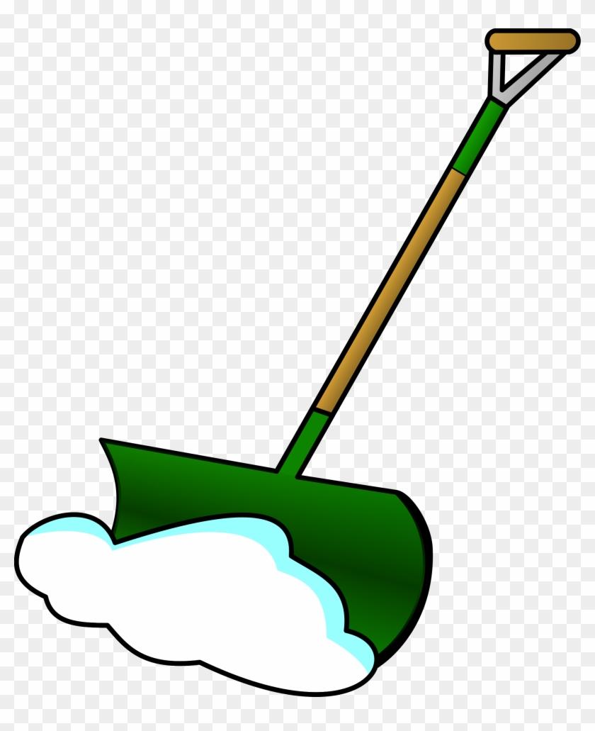 Shovel Free To Use Clipart - Shovel Snow Clip Art Black And White #22563
