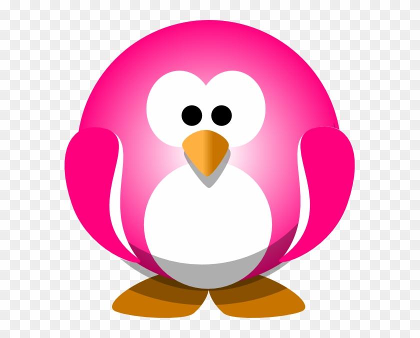 Pink Penguin Clip Art - Pink Penguin Png #22596