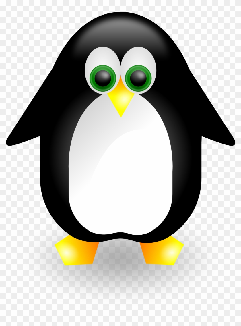 Penguin 2 Linux 555px - Vector Con Chim Canh Cut #22599
