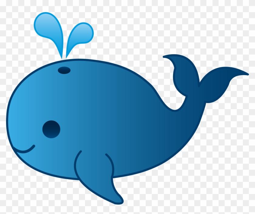Cute Whale Png Clipart - Whale Clipart #22615