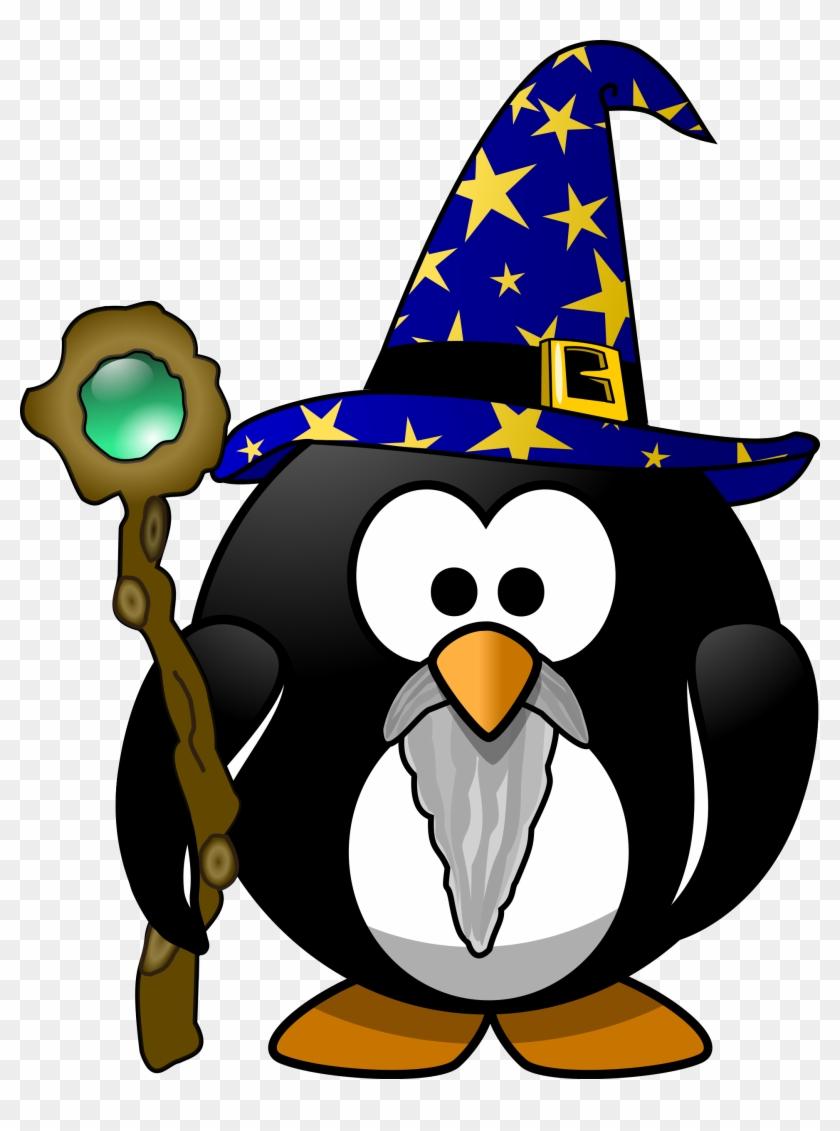 Clipart - Wizard Penguin #22614