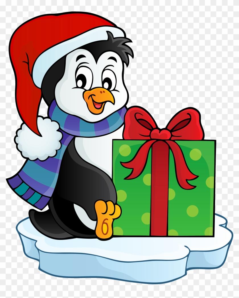 Christmas Penguin Transparent Png Clip Art Image - Free Christmas Penguin Clipart #22639