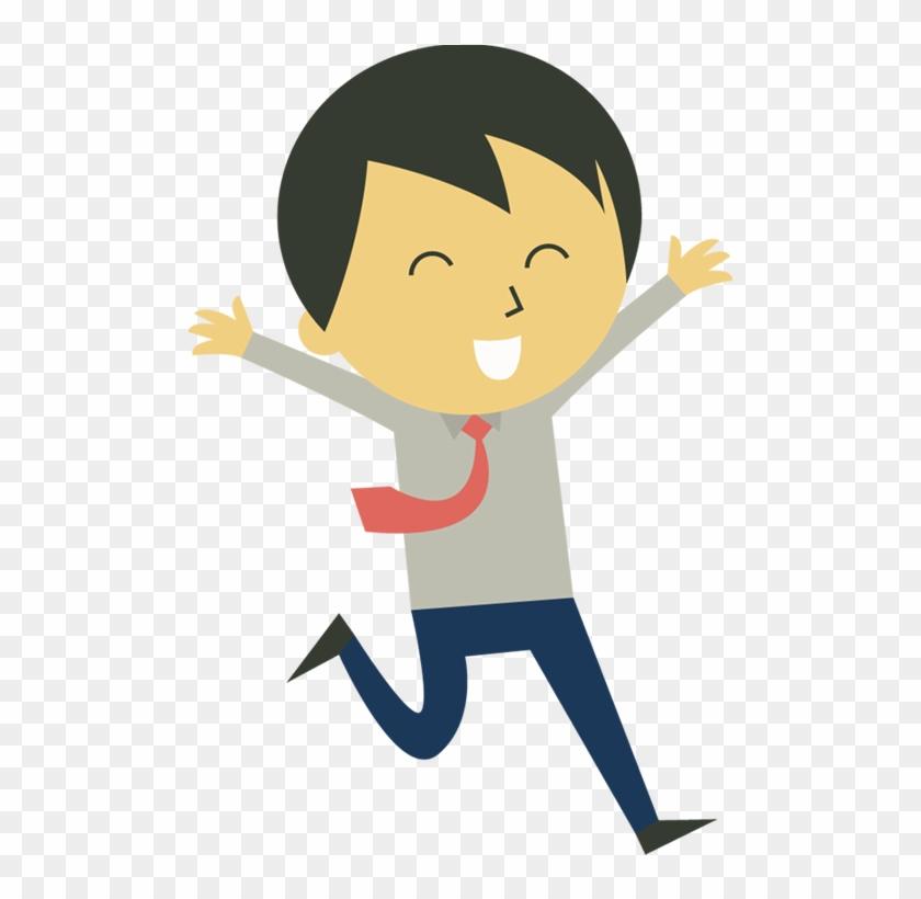 Happy Person Clip Art Portfolio Categories 1designshop - Happy Person Cartoon Png #22637