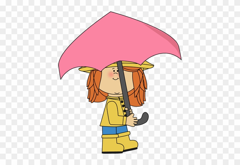 Girl Walking With Umbrella - Girl With Umbrella Clipart #22647