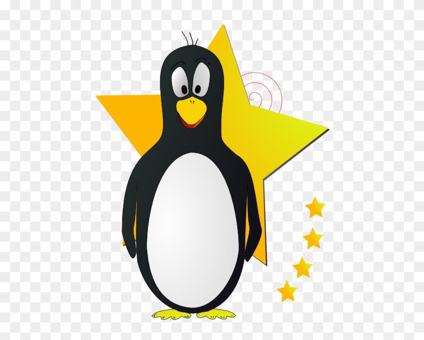 King Penguin Clipart Cartoon Penguin - Penguin With A Star #22654