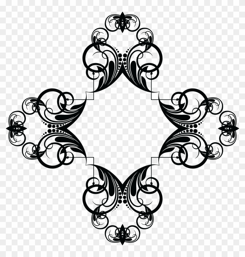 Free Clipart Of A Frame Design Element - Musical Note Hd Clipart #22669