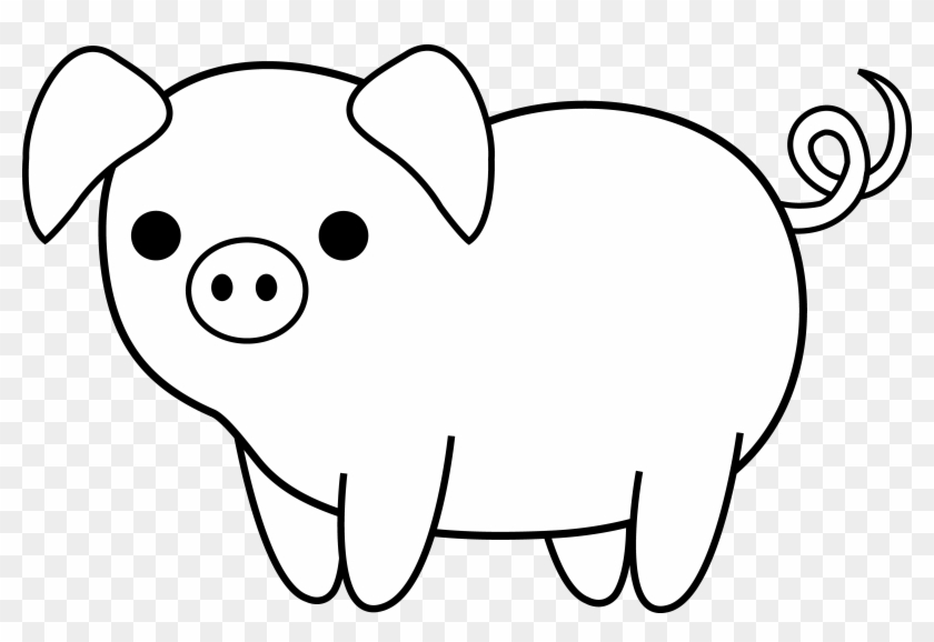 Sweet Idea Pig Clipart Black And White Cute Clip Art - Drawing Of A Pig #22682