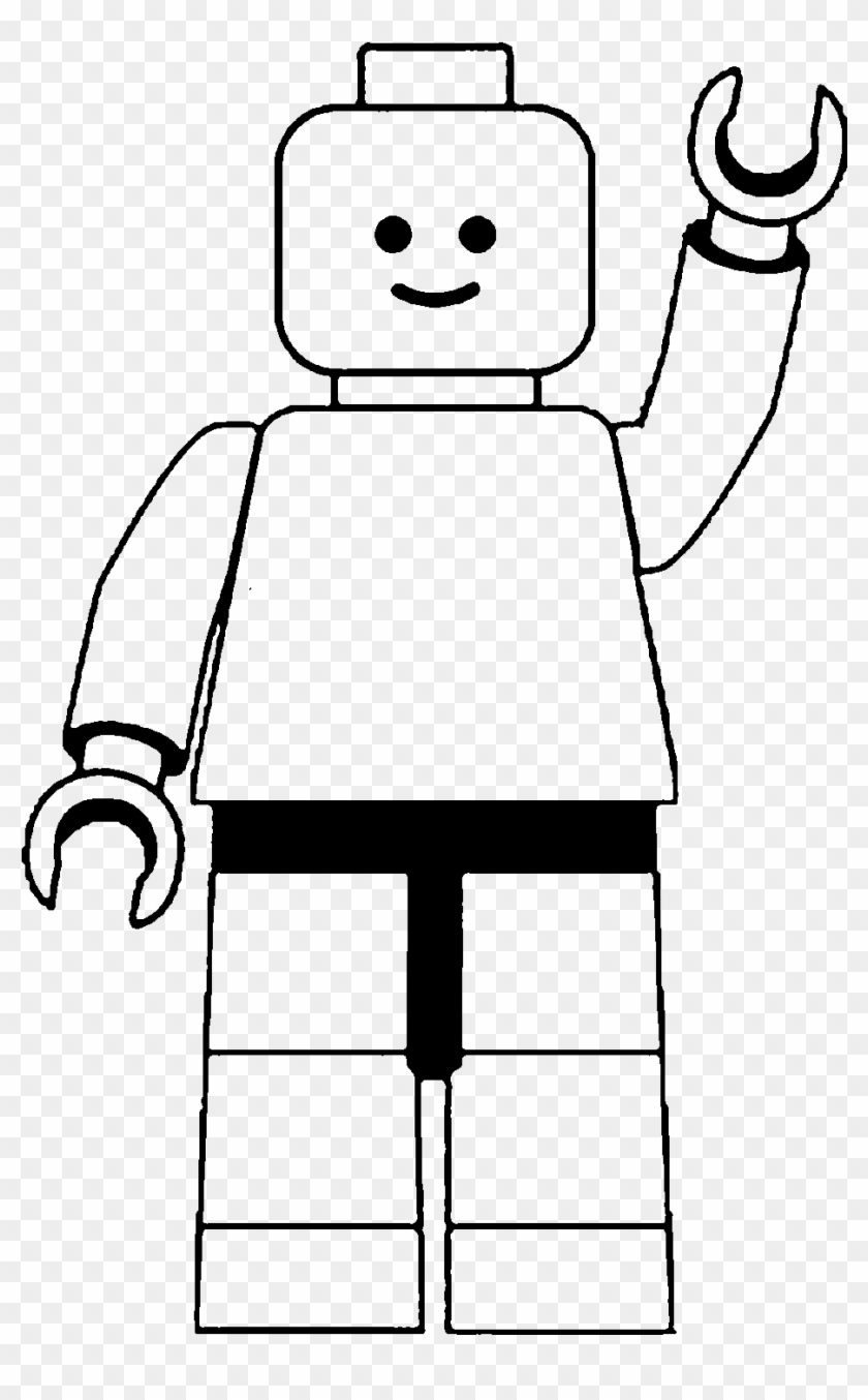 Lego Man Clip Art Black And White - Lego People Black And White #22680