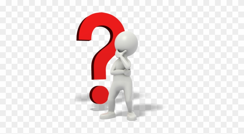 Stick Man Thinking Clipart - Human Question Mark Png #22713
