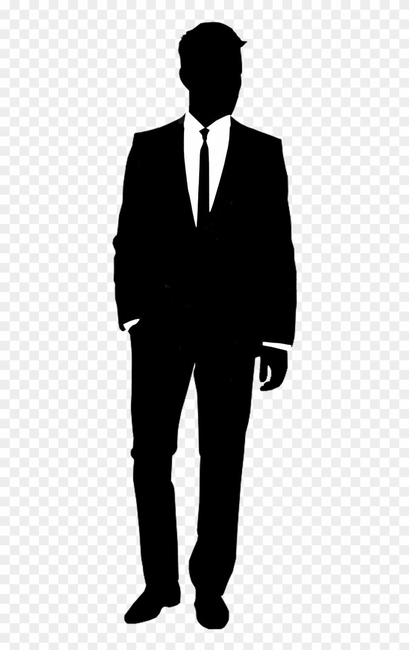 Unfortunate Men's Fashion - Suit Silhouette #22723