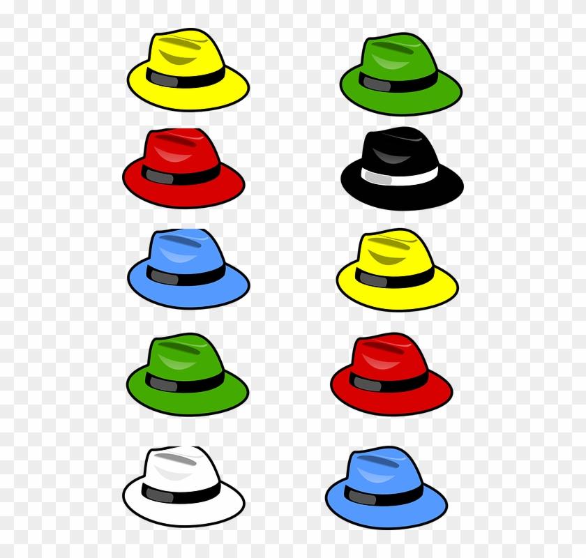 Hats Fedoras Fashion Style Accessory Wear - 10 Objects Clip Art #22752
