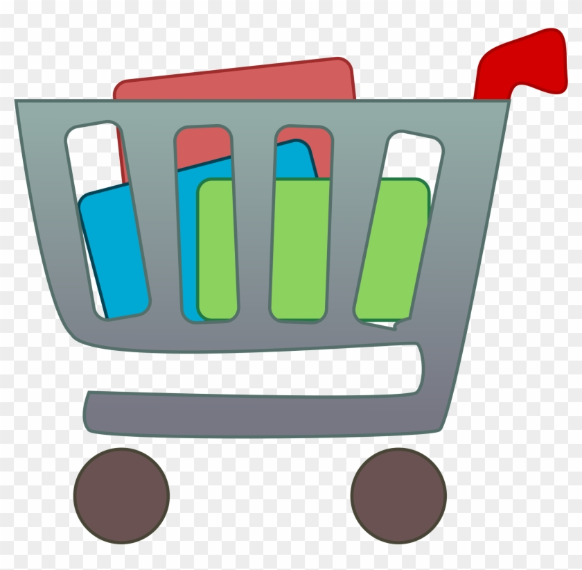 Grocery Shopping Clipart - Items In A Shopping Cart #22784