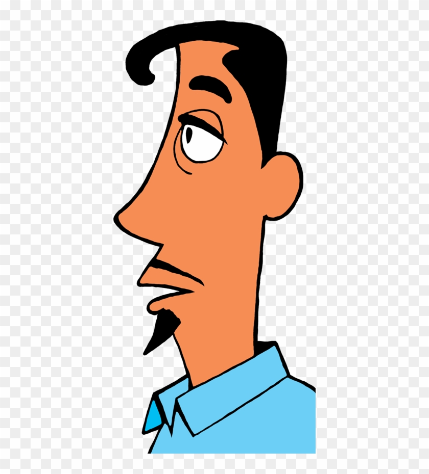 Goatee In Profile - Clipart Man's Profile Png #22800
