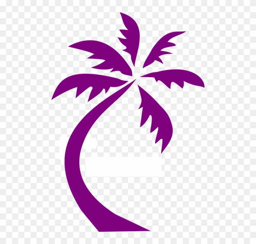 Palm Tree Design Purple Silhouette - (sjt02515) Going To My Happy Place. Be Back Never (palm #22848