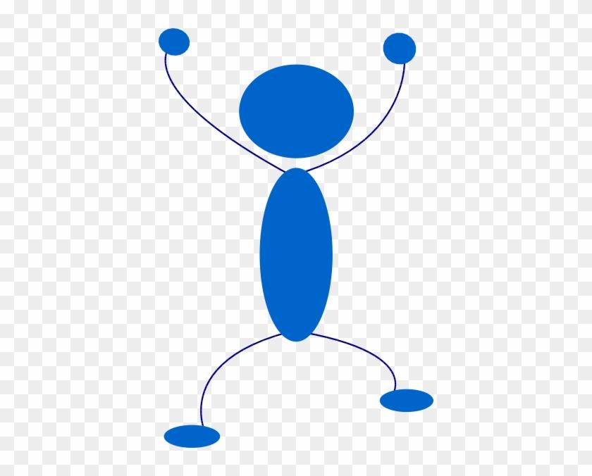 Free Vector Blue Man Clip Art - Blue Man Clip Art #22866