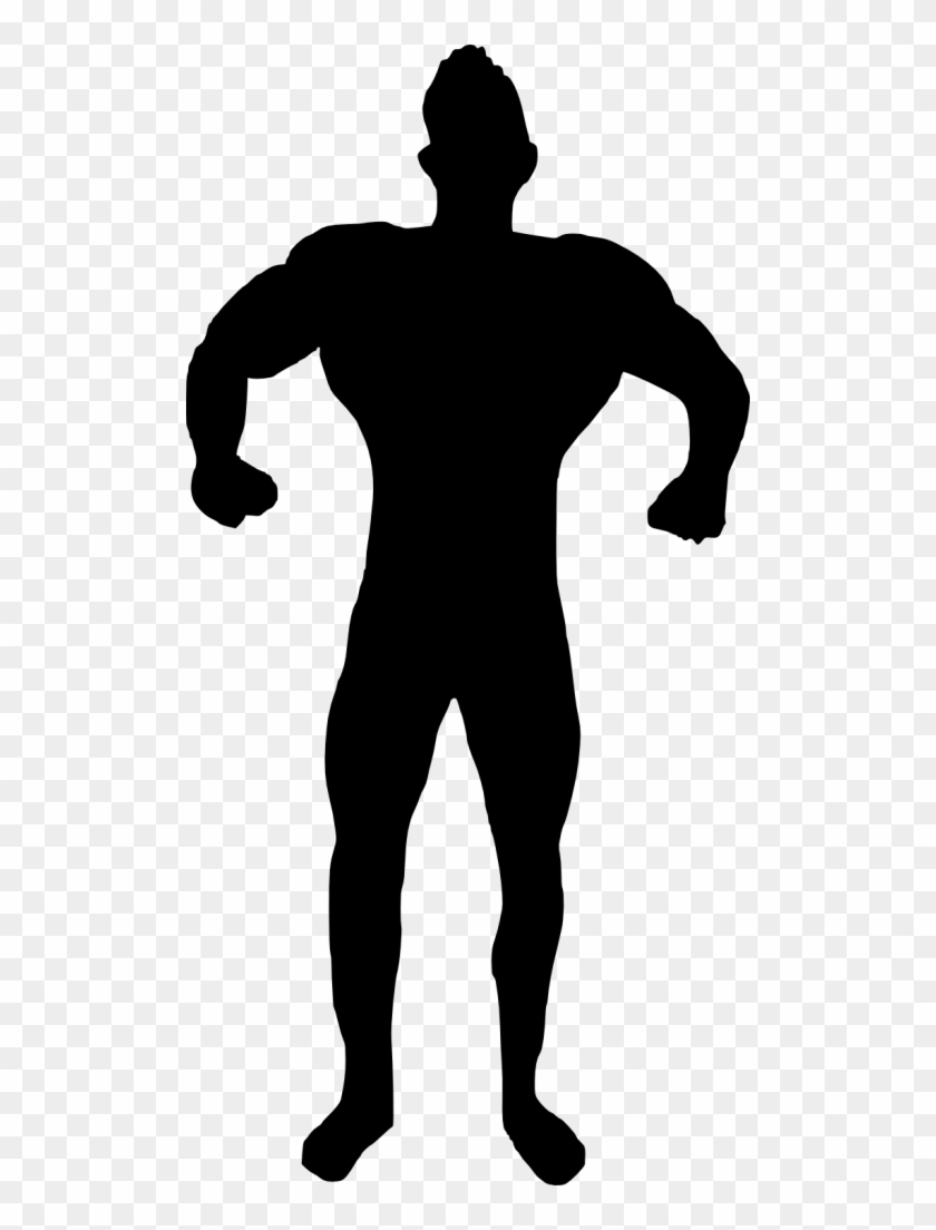 15 Muscle Man Body Builder Silhouette - Bodybuilder Silhouette Png #22869