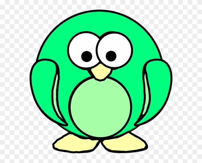 Green Penguin Clip Art At Clker - Monster Clipart #22874