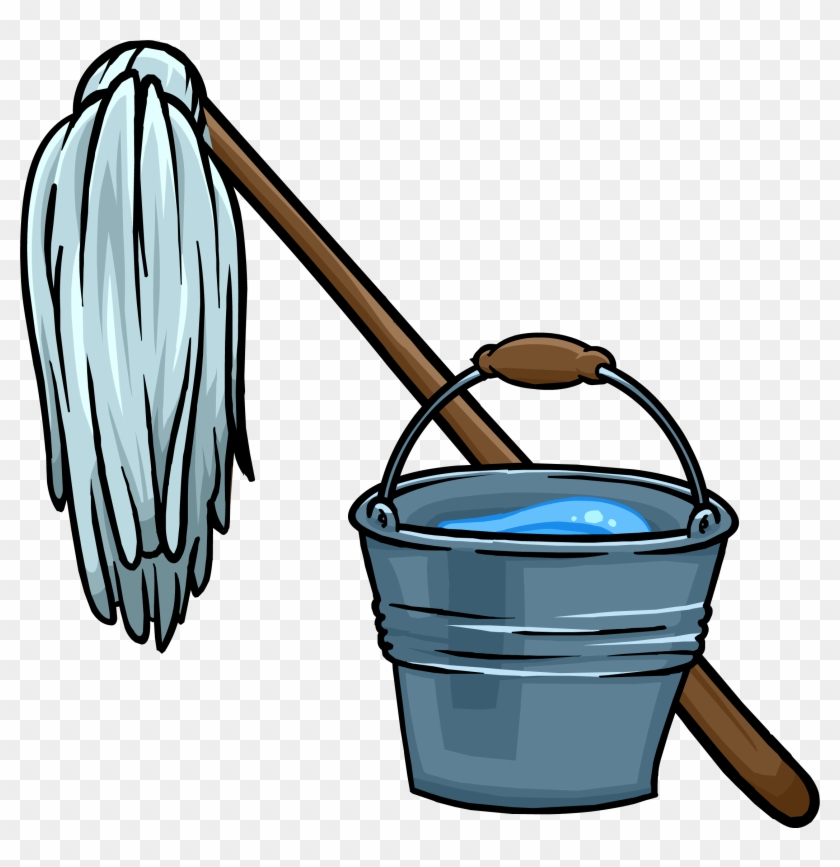 Mop And Bucket - Mop And Bucket Clipart #22886