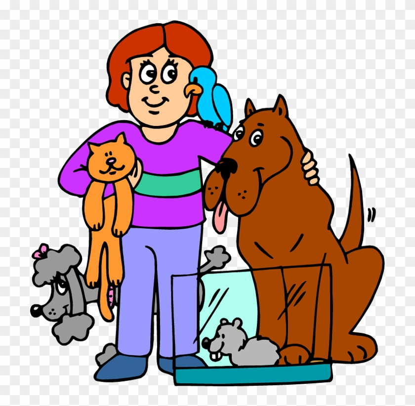 Animal Service Cliparts Free Download Clip Art Man - Cartoon Person With Animals #22961
