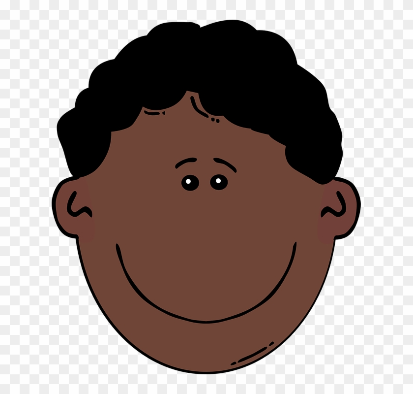 Black Hair Clipart African American Man - Cartoon Boy Sad Face #22982