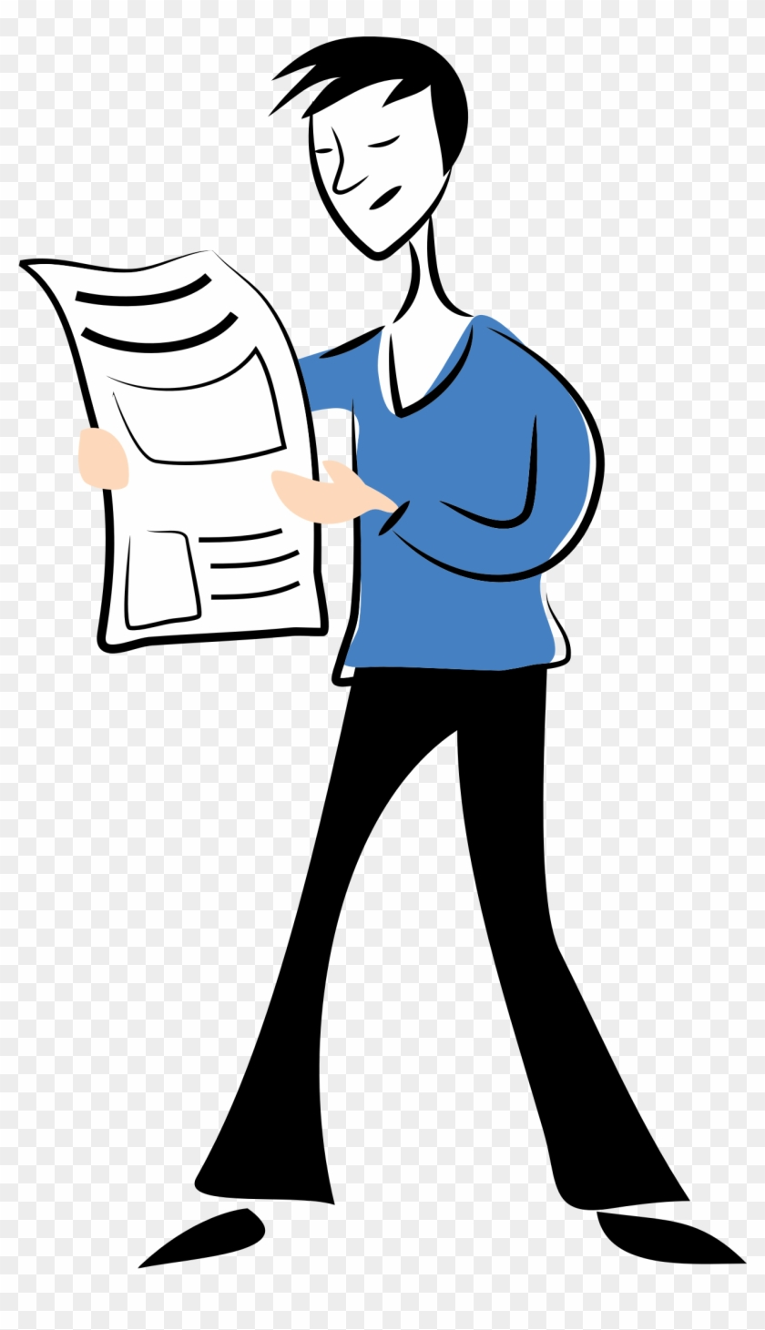 man reading newspaper clip art 101 clip art - man reading news paper