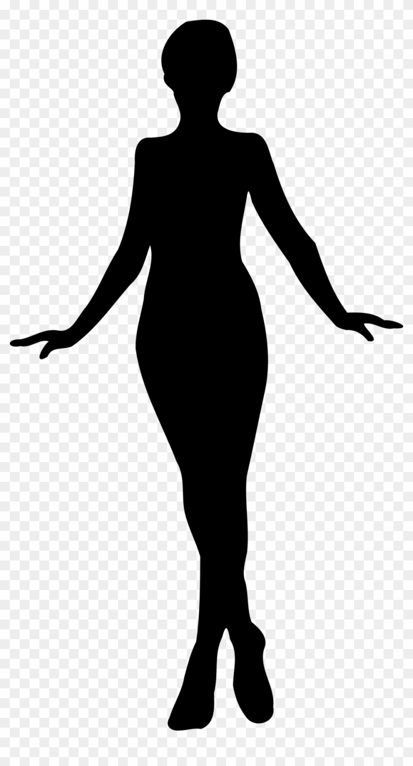 Public Domain Clip Art Image Illustration Of A Female - Silhouette Of A Woman #22991