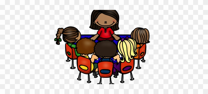 Guided Reading Clipart - Teacher Small Group Clipart #23024