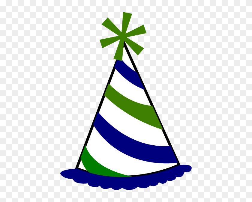 Birthday Hat Clip Art At Vector Clip Art Online - Birthday Hat Transparent Background #23079