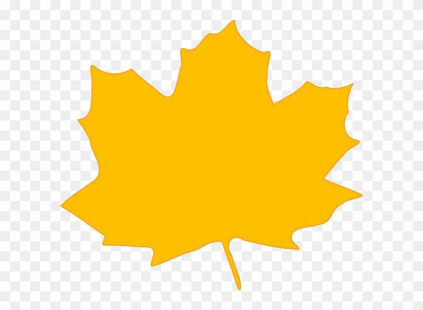 Yellow Fall Leaf Clip Art At Clker Com Vector Clip - Yellow Autumn Leaf Clip Art #23110