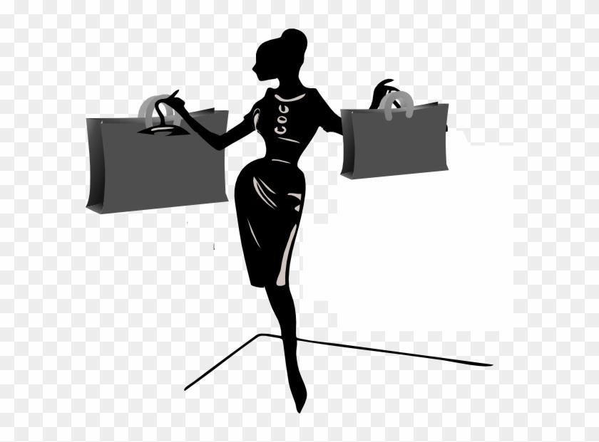 Ladies Shopping Black And White #23160