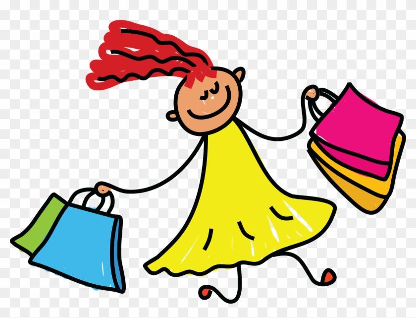 Kids Shopping Clip Art - Go Shopping Clip Art #23166
