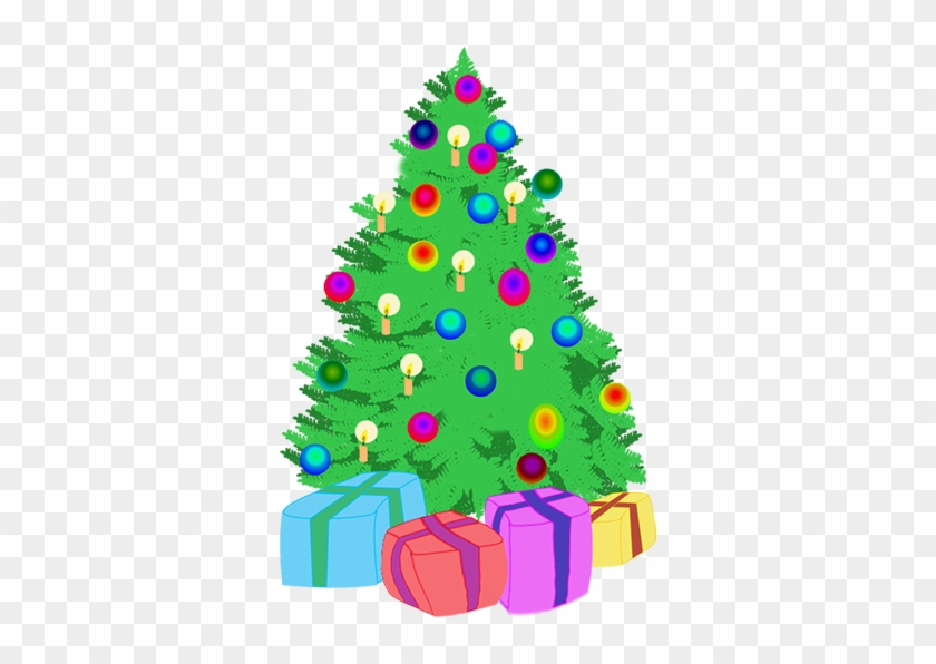 Holiday Clipart Cute Tree - Christmas Tree Drawing And Gift #23173
