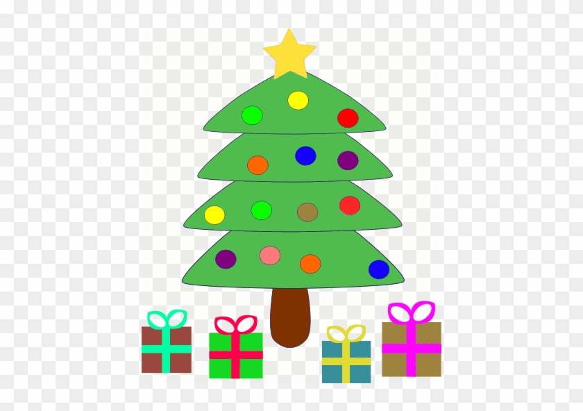 Public Domain Clip Art For Christmas - Cute Christmas Tree With Presents #23191