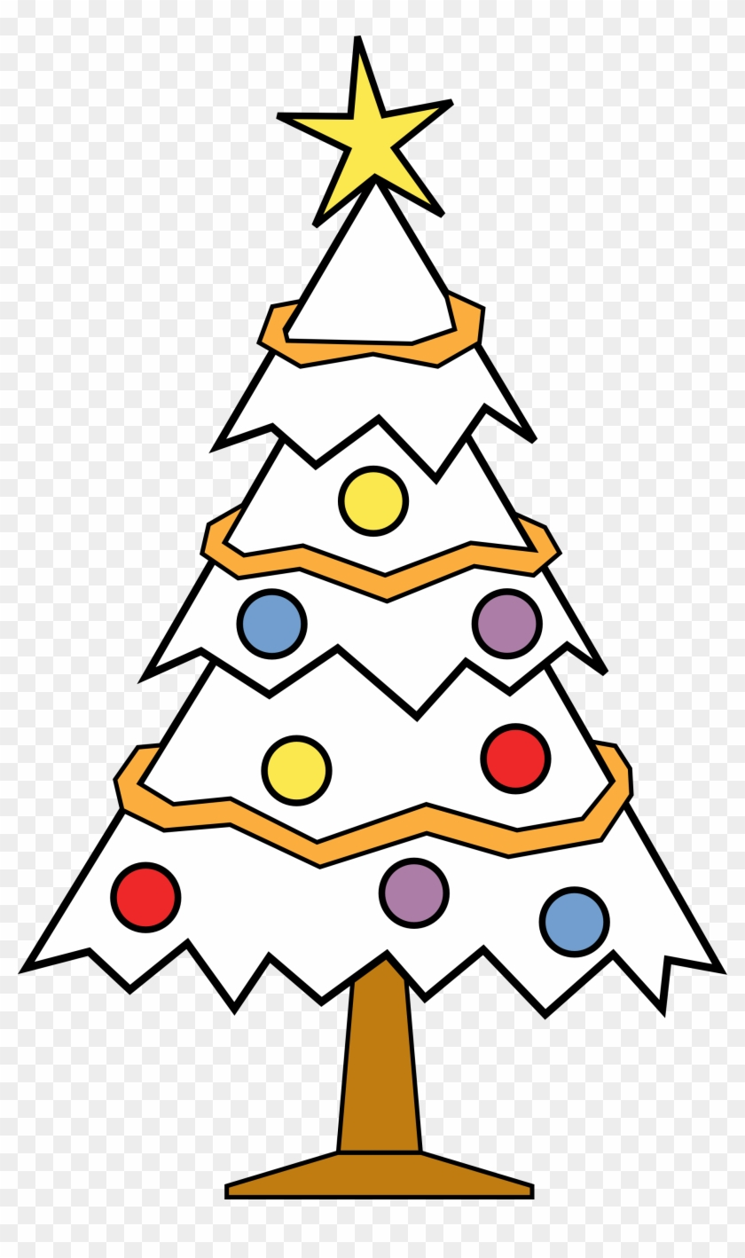 Christmas Line Drawings - Christmas Tree Clip Art Black #23220