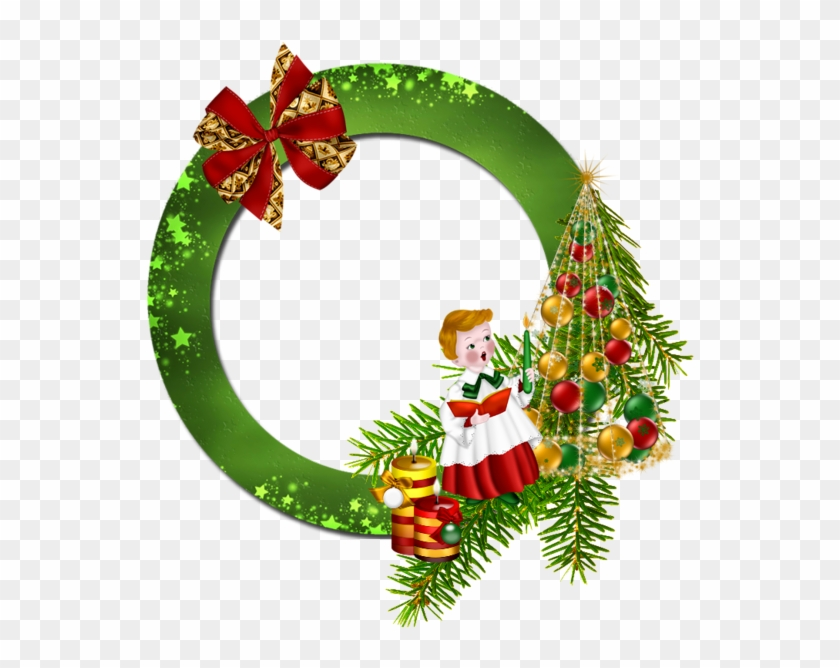 round transparent green png christmas round christmas frames png
