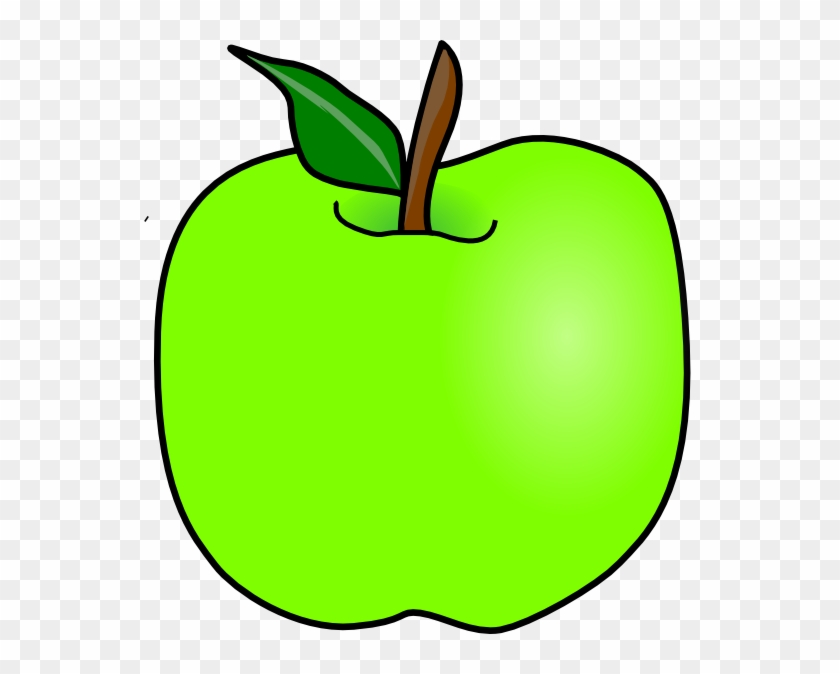 Green Delicious Apple Clip Art - Green Apple Cartoon Clipart #23245