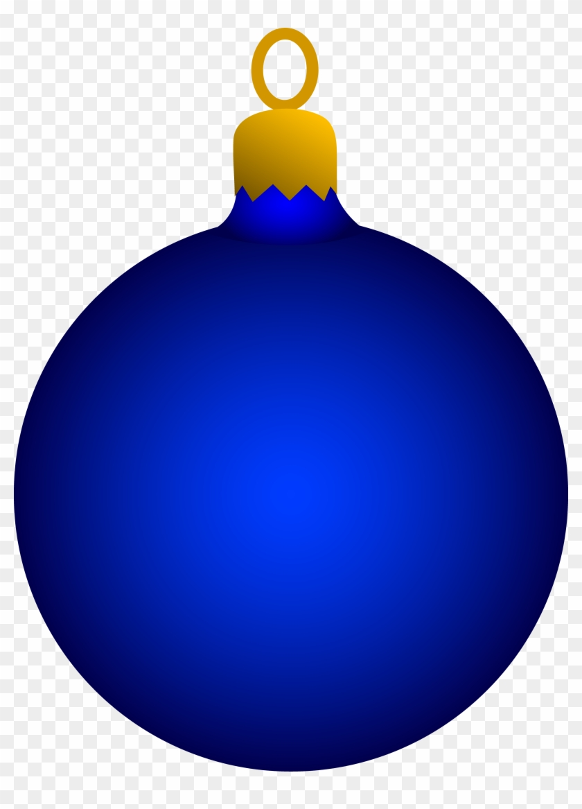 Pictures Of Christmas Ornaments - Blue Ornament Clipart #23289