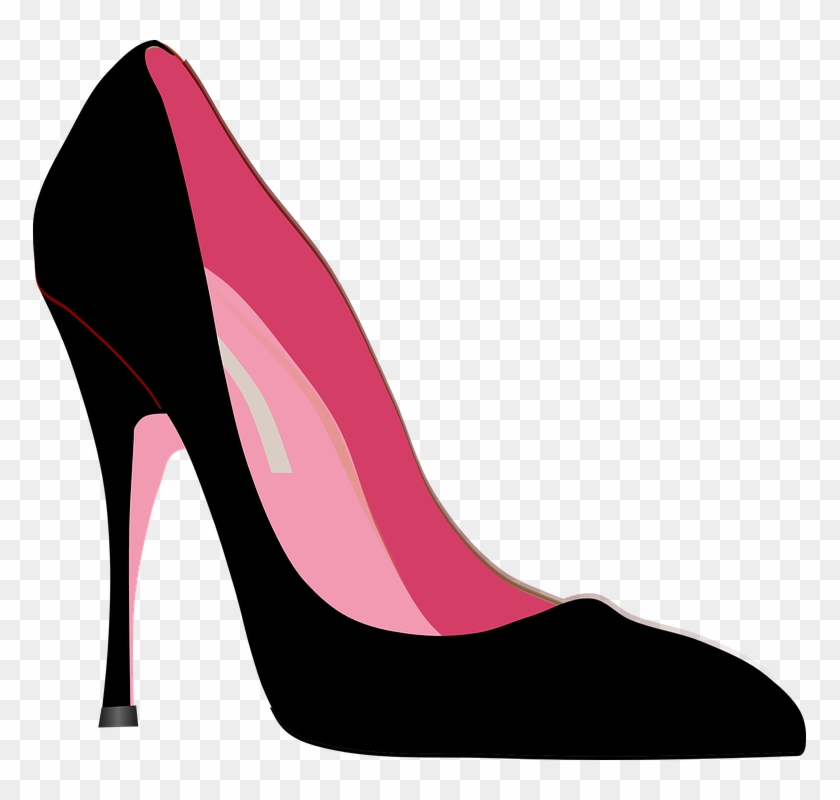 High-heels Stiletto Shoe Fashion Black Pink Style - Heel Clipart #23290