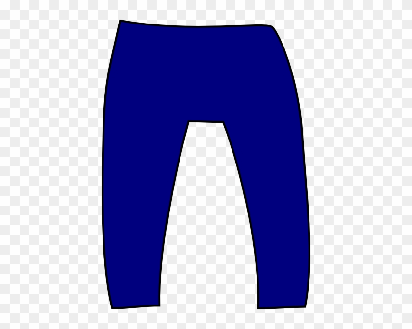 Denim Fashion In Neon - Blue Pants Clip Art #23314