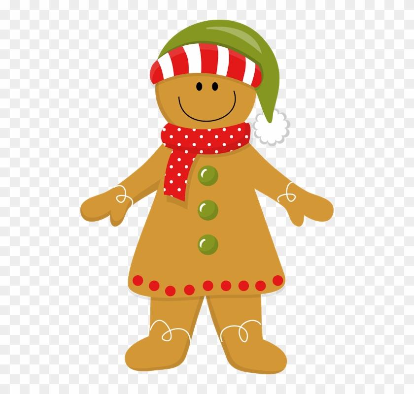 Christmas Gingerbread Girl - Gingerbread Woman Clipart #23329