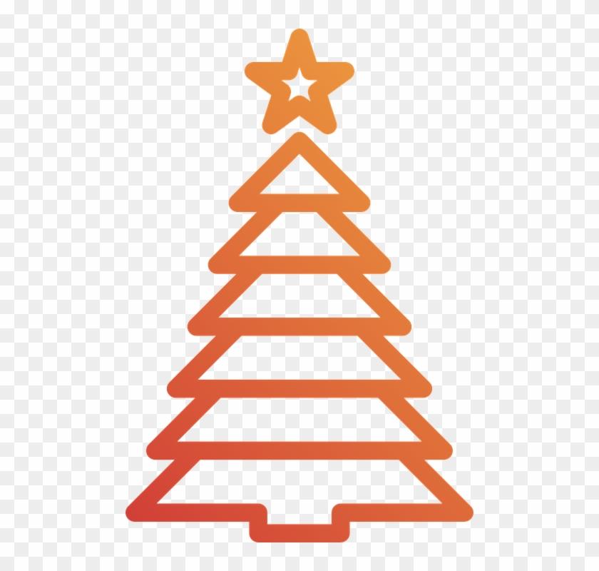 Christmas Tree Holidays Christmas Pine Icons - Choinka Grafika #23374