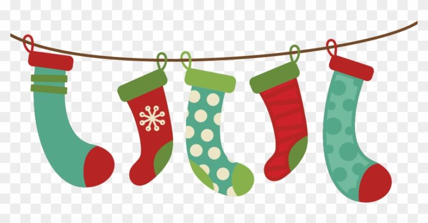 Hanging Christmas Stockings Clipart - Christmas Clip Art Stockings #23385