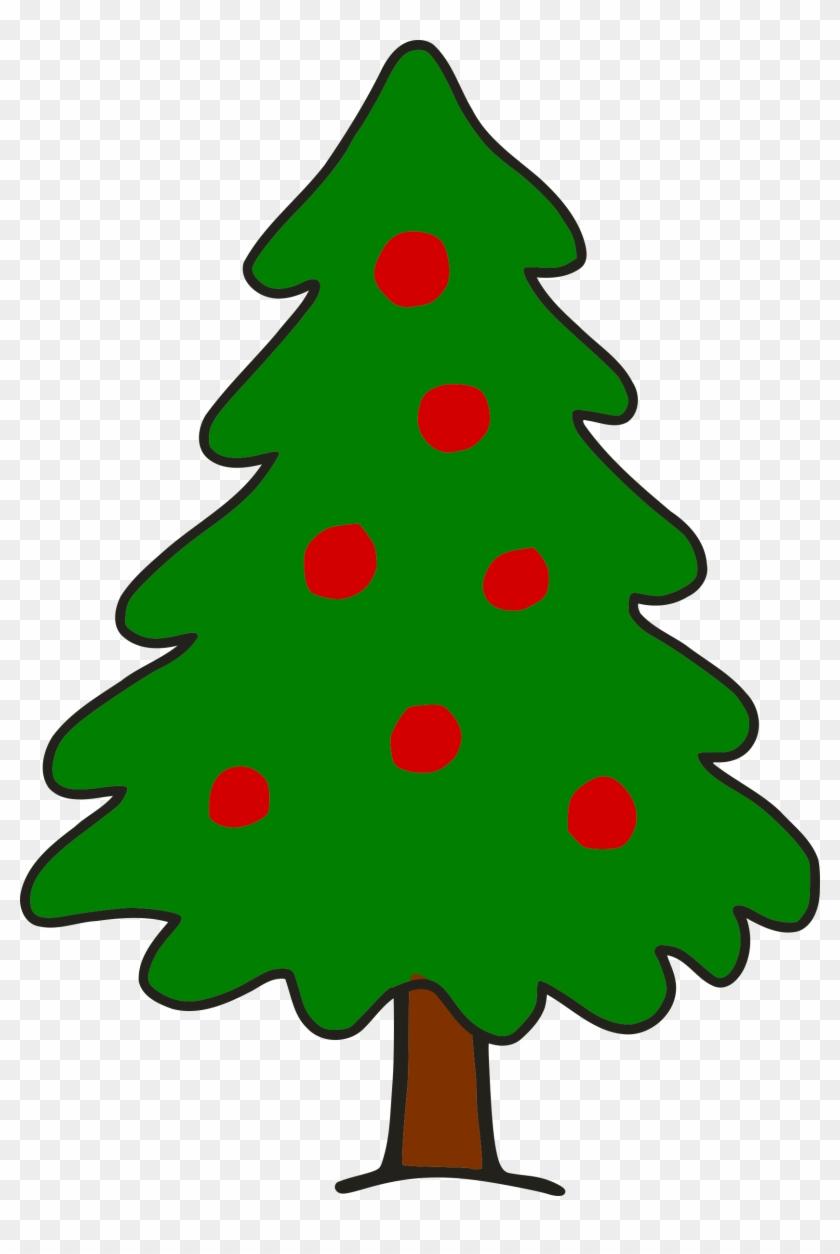 Simple Christmas Tree - Clip Art Christmas Tree #23391