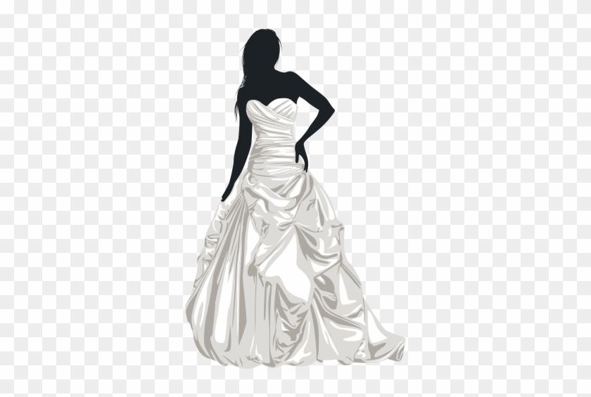 Bride Silhouette Clip Art - Wedding Dresses Png #23408