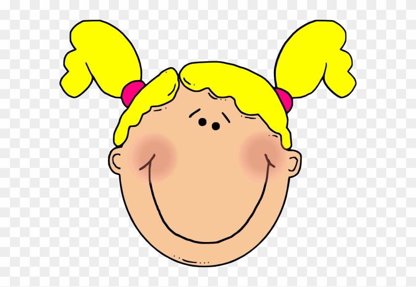 Young Girl Clip Art - Girl Face Clip Art #23429