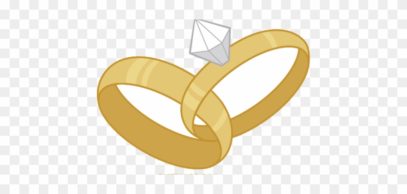 Love Birds Wedding Bands Clip Art , Wedding Ring - Wedding Rings Clipart Transparent #23468