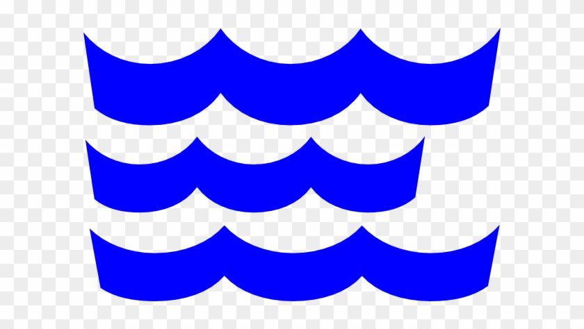 Waves Wave Clip Art Blue Download Vector - Waves Template #23471
